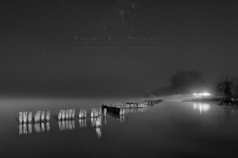 Midnight Fog at the Lake